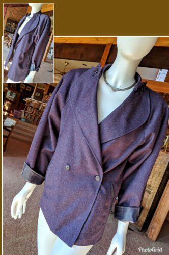 Ladies Jacket - 100% Wool BurgundyTailored In South Africa Sz 8 Lined VG Cond