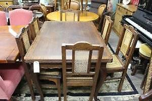 A Set of Six French Provincial Oak Dining Chairs