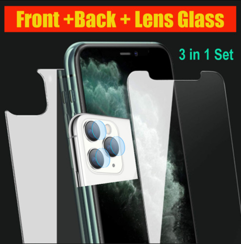 3 Pack Front+Back+Lens Tempered Glass For iPhone 11 PRO|PRO MAX /XS MAX|Xr-U