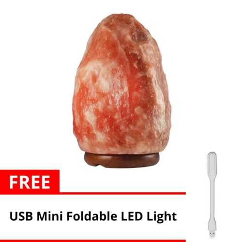 Keimav Natural Shape Himalayan Salt Lamp Light Dimmer w/ USB LED Light (White) <br/> Paypal Accepted✔Same Business Day*Dispatch✔Powerseller✔