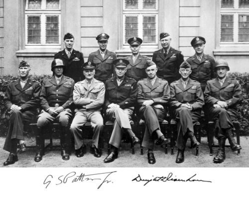 """George S Patton WWII /""""politicians/"""" Autograph Quote Matted Photo Picture #qf1"""