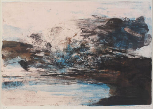 ZAO WOU-KI - Lithography Signed Numbered and dated 1970 - Composition #207
