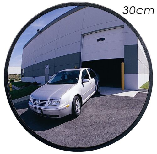 """30cm 12"""" Outdoor Road Traffic Convex Mirror Wide Angle Driveway Safety Security"""