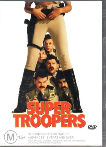 SUPER TROOPERS - DVD R4  (2003) Jay Chandrasekhar LIKE NEW - FREE POST