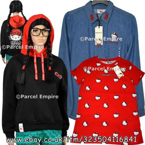 ALL SIZES Official HELLO KITTY T-Shirt Denim Joggers Pants Leggings Hoodie Cat