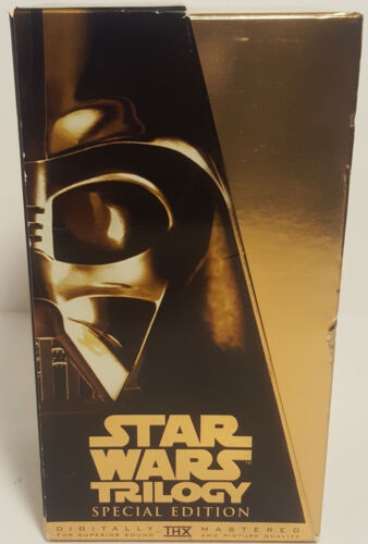 STARWARS TRILOGY Special Gold VHS Box Set - 3 Movies (pal) 1997