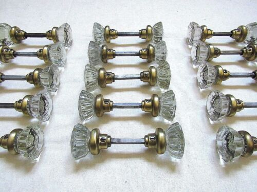 1 Pair of Antique Glass Door Knobs Restored + Ready to Install - Many Available!