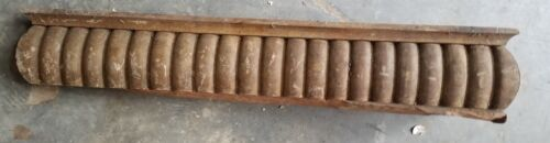 """Wooden fragment antique carved 20 x 4"""" heavy repurpose"""