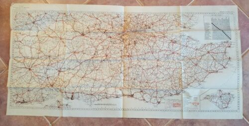 WWII Era - WAR AND NAVY DEPT. MAP OF ENGLAND & WALES