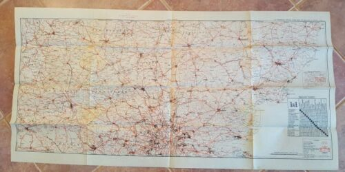 WWII Era - WAR AND NAVY DEPT. MAP OF ENGLAND & WALES (SHEET 2)