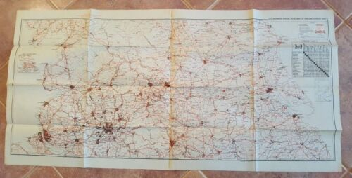 WWII Era - US ENGINEERS SPECIAL ROAD MAP OF ENGLAND & WALES (SHEET 7)