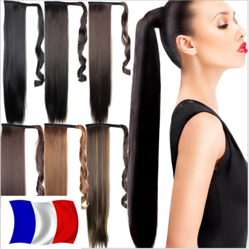 Rajout Queue de Cheval Postiche Extension de Cheveux Lisse  Wrap Around Ponytail