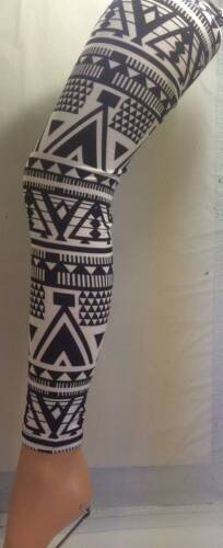 BLACK & WHITE 120 DENIER FOOTLESS TIGHTS (ONE SIZE,LARGE.XL)