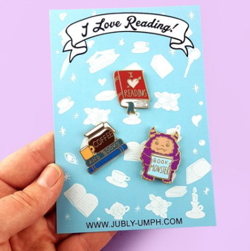 NEW Jubly Umph Lapel Pin Set * I Love Reading Jewellery
