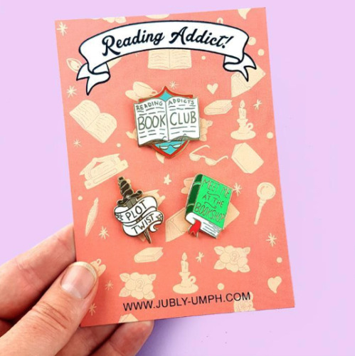 NEW Jubly Umph Lapel Pin Set * Reading Addict Jewellery