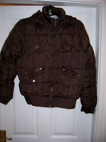 Women's, Chocolaty Brown Quilted Hooded Jacket, Cool Details, by Cubus, Size L