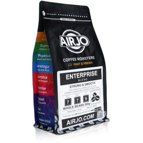 AIRJO Coffee Beans 1Kg - Fresh Roasted Every Day - 100% ORGANIC - Free Shipping <br/> ROASTED COFFEE BEANS 100% AUSTRALIAN CERTIFIED ORGANIC