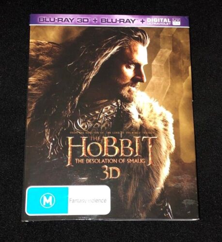 The Hobbit The Desolation Of Smaug 3D BluRay/BluRay & Digital  - Like New!!