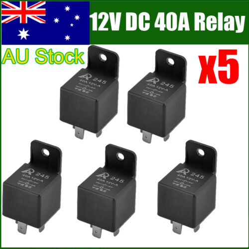 NEW 5PCS 12//24//48V Automotive Changeover Relay 40A 4//5Pin For Car Bike Van