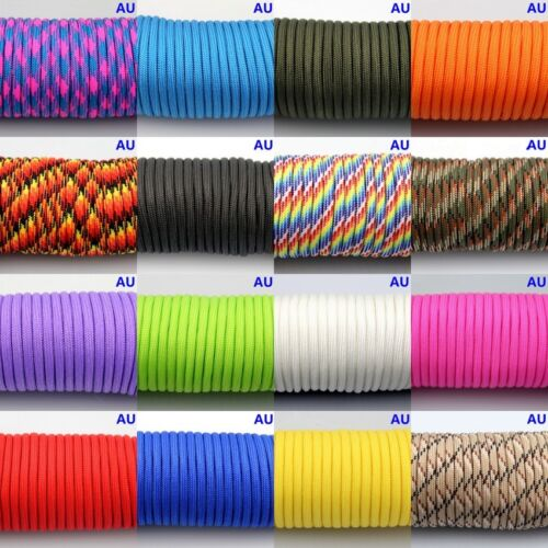 50-300FT 550 Paracord Parachute Cord Lanyard Mil Spec Type III 7 Strand Core <br/> EXTRA 10% OFF 3+ ITEMS,AU Stock,Free Shipping!