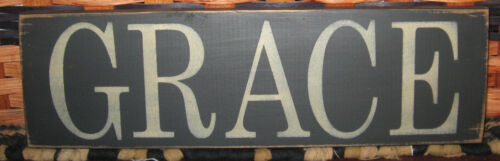 "PRIMITIVE  COUNTRY GRACE  12"" SIGN"