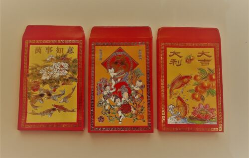 Super Sale 300 PCS Colorful Chinese Red Envelopes, Red Packets & Hong Bao