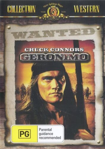 Geronimo DVD Chuck Connors New Sealed Australia Plays Region All