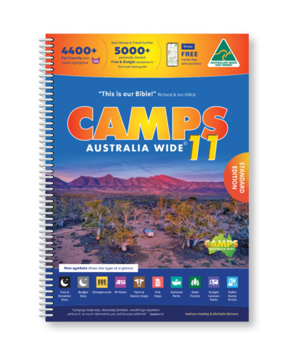 Camps Australia Wide11 Spiral Bound Book A4 size <br/> New 2021 Edition, inc the latest Hema Road Atlas