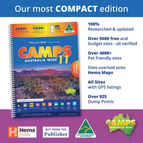 NEW 2019 Camps Australia Wide10 A4 Spiral Bound Book New - NEW CAMPS 10 <br/> Latest 2019 Edition, inc the latest Hema Road Atlas