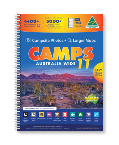 2019 Camps Australia Wide10 B4 with Snaps Spiral Bound Book... New camps 10 <br/> Easy to Read with Camps Photos, larger maps & text