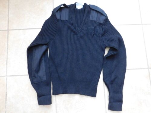 010426d38  29.62 US MILITARY BLUE 3346 PULL OVER V NECK SWEATER SIZE MEDIUM Other  Current Field Gear -