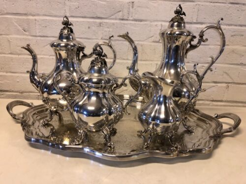 Reed & Barton Winthrop Silver plate 5 Piece Tea set