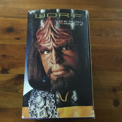 STAR TREK THE NEXT GENERATION / WORF RETURN TO GRACE COLLECTION / 4 x VHS TAPES