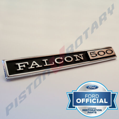 FALCON XR GT GOLD CHROME DIE-CAST BADGE STICK-ON CAR INTERIOR FORD GT