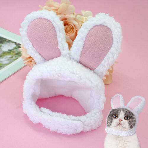 Kitten Cat Dog Puppy Pet Costume Cosplay Rabbit Hat Clothes Cute Pink Color