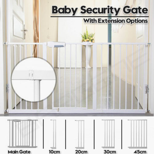 Adjustable Baby Pet Child Kid Safety Security Gate Stair Barrier Door Extension