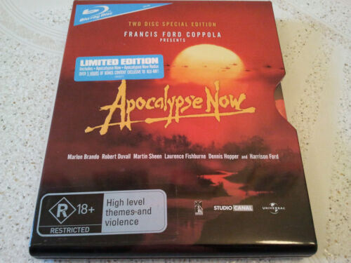 APOCALYPSE NOW BLU RAY SPECIAL 2-DISC LIMITED EDITION STEEL METAL SLIP CASE RARE