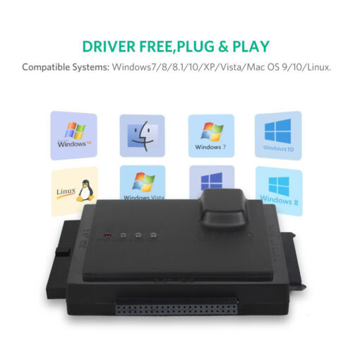External Hard Drive Disk Enclosure Converter Case (Up to 6TB) USB 3.0 5Gbps