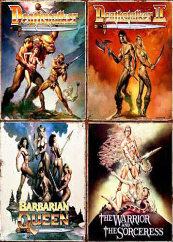 Deathstalker 1 / 2 / Barbarian Queen / The Warrior and the Sorceress DVD NEW
