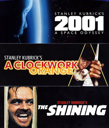 2001: A Space Odyssey / A Clockwork Orange / The Shining (1980) BLU-RAY NEW
