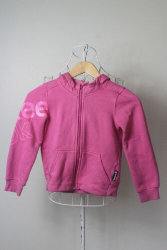 """Girls Size 7/8 """"Reebok"""" Pink Hooded Jumper. Great Condition! Bargain Price!"""