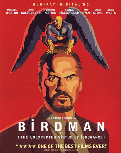 Birdman: Or (The Unexpected Virtue of Ignorance) BLU-RAY NEW