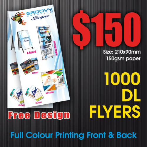 DL Flyers, Cheap Flyers, Flyers, 1000 DL Flyers, 1000 Full Colour Flyers