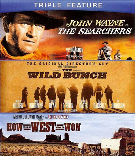 The Searchers (1956) / The Wild Bunch / How the West Was Won (1962) BLU-RAY NEW