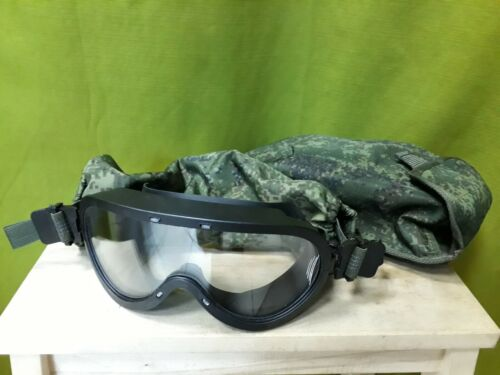 Original Russian Army Ballistic Goggles 6b50 Ratnik ISSUE New with MOLLE PouchOther Current Field Gear - 36071