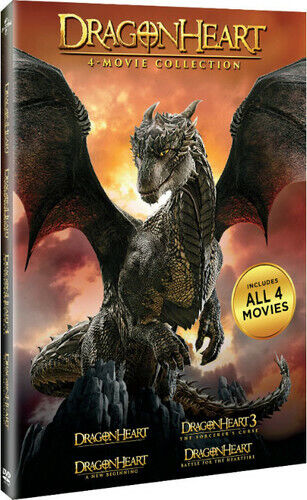 Dragonheart 4 Movie Collection: 1 / 2 / 3 / 4 (4 Disc) DVD NEW