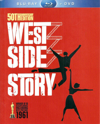West Side Story (3 Disc, Blu-ray + DVD, 50th Anniversary Edition) BLU-RAY NEW