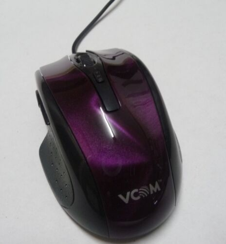USB COMPUTER GAMING MOUSE - Black purple design  LED optical/laser laptop pc NEW