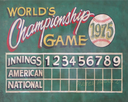 Baseball Scoreboard Print vintage style art, mancave, sports Kids room decor