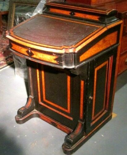 ANTIQUE VICTORIAN DAVENPORT DESK_DIMINUTIVE RARE SIZE_BOSTON ESTATE RARE SIZE !